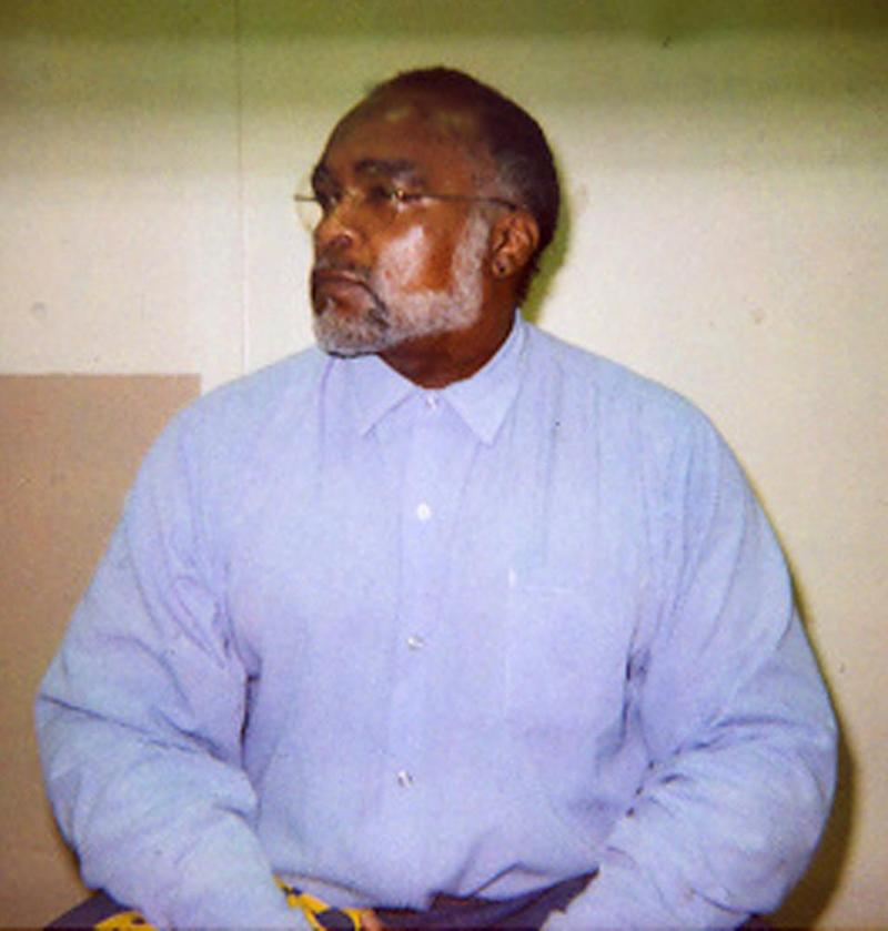 Williams sits in a visiting cell at San Quentin prison in 2005.
