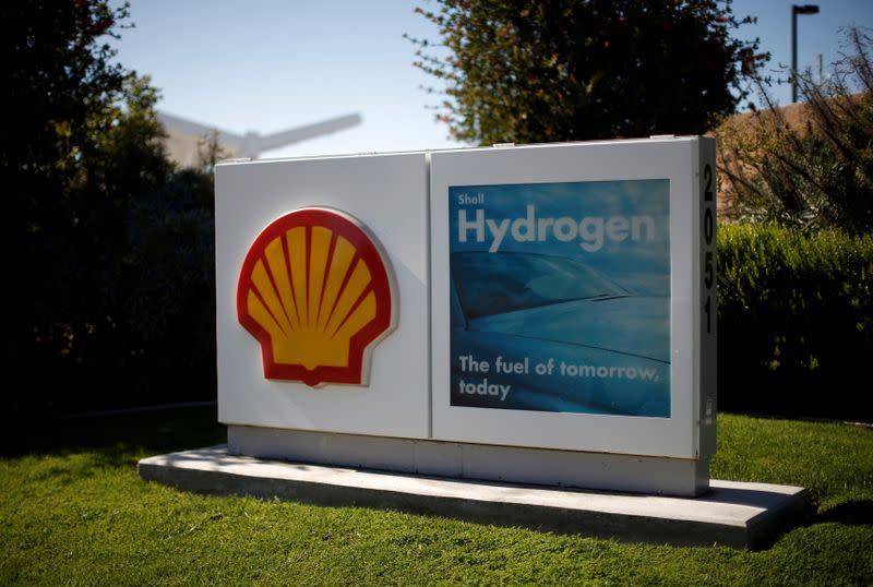 FILE PHOTO: A Shell hydrogen station is seen in Torrance