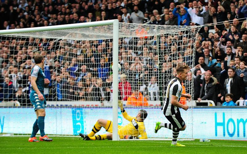 Matt Ritchie celebrates scoring Newcastle's winner - Newcastle United