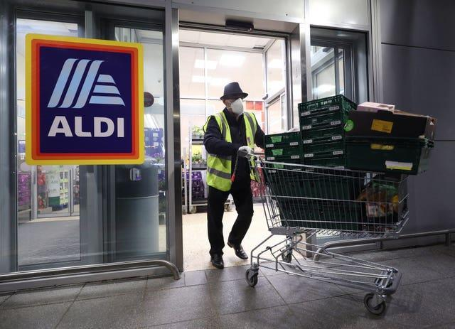 Aldi has been namedn the UK's top in-store supermarket in the annual Which? survey (Yui Mok/PA)