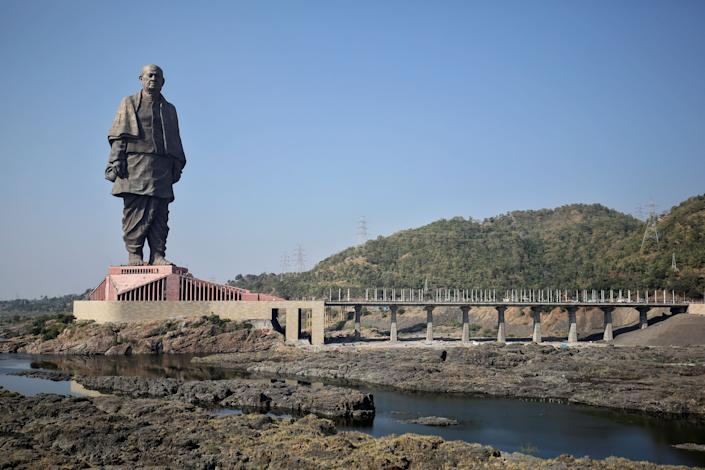 This 600-foot statue in India is officially the tallest statue in the world, dethroning a 420-foot statue of Buddha in China. (Photo: Amit Dave / Reuters)
