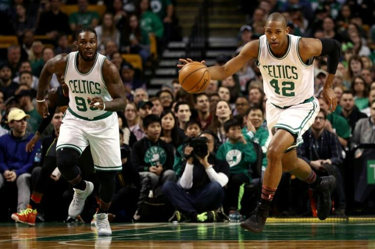 Al Horford (R) just missed his second career triple double as he also had eight assists in his best game in some time as the Celtics beat the Timberwolves 117-104