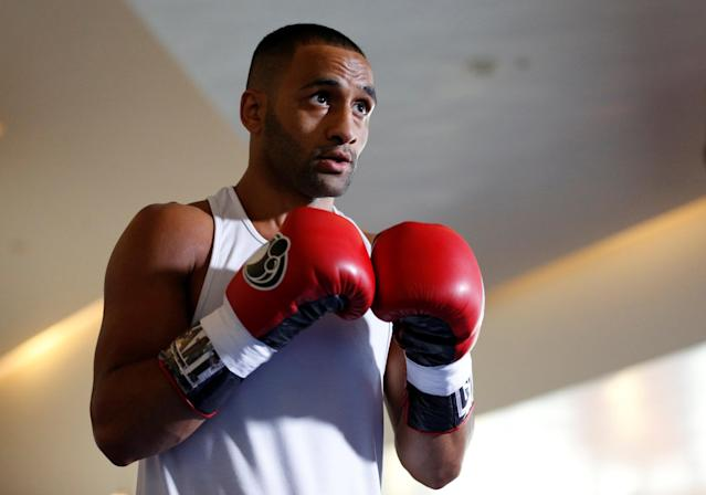 Boxing - Kell Brook Public Work-Out - Crucible Theatre, Sheffield, Britain - February 15, 2018 Kid Galahad during his work-out Action Images via Reuters/Ed Sykes