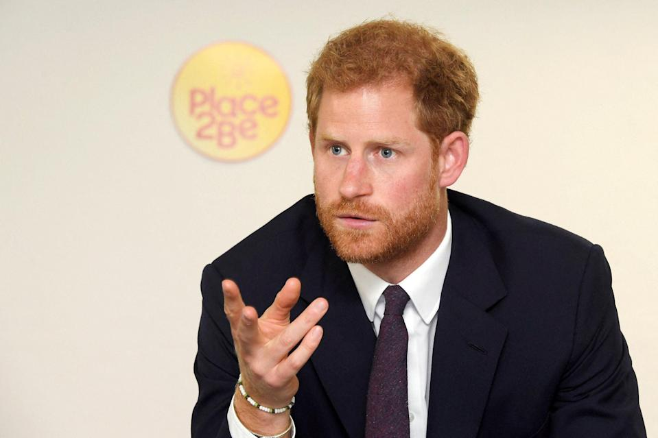 <p>Prince Harry is set to sit down with wife Meghan Markle for a tell all chat with Oprah Winfry - here's his top interviews</p> (AFP)