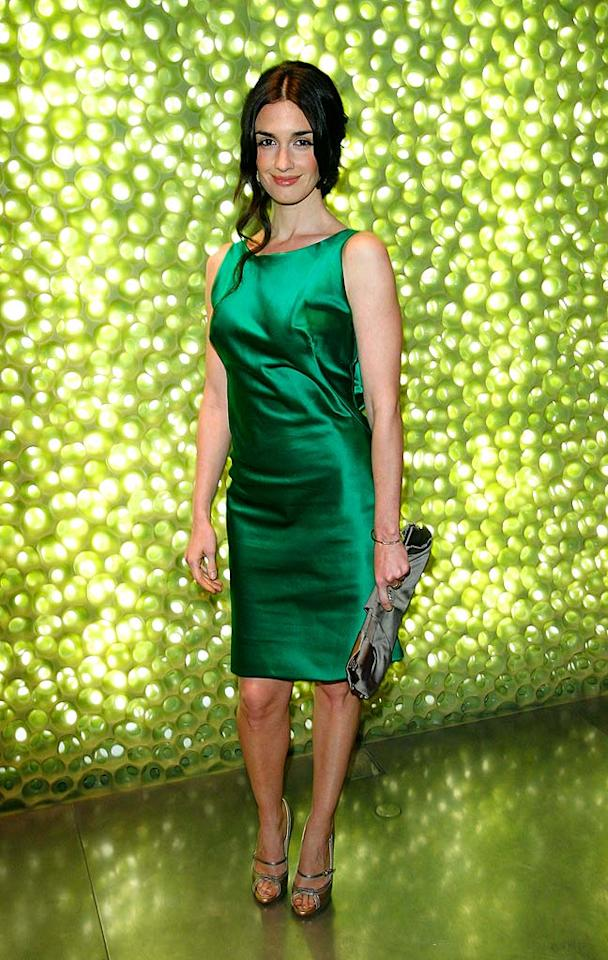 "Actress Paz Vega (""Spanglish"") is gorgeous in a green Prada cocktail dress. Donato Sardella/<a href=""http://www.wireimage.com"" target=""new"">WireImage.com</a> - March 19, 2008"