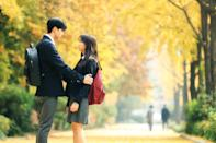 """<p>A South Korean romance television series, <strong>Love Alarm</strong> is about an app that helps users find love by sounding if someone within a 10-meter radius has romantic feelings for them.</p> <p><a href=""""https://www.netflix.com/title/80168068"""" class=""""link rapid-noclick-resp"""" rel=""""nofollow noopener"""" target=""""_blank"""" data-ylk=""""slk:Watch Love Alarm on Netflix now"""">Watch <strong>Love Alarm</strong> on Netflix now</a>.</p>"""