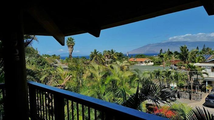 """<p><a href=""""https://www.tripadvisor.com/Hotel_Review-g60632-d111850-Reviews-What_a_Wonderful_World_Bed_and_Breakfast-Kihei_Maui_Hawaii.html"""" rel=""""nofollow noopener"""" target=""""_blank"""" data-ylk=""""slk:What A Wonderful World Bed & Breakfast"""" class=""""link rapid-noclick-resp"""">What A Wonderful World Bed & Breakfast</a> in Kihei</p><p>""""The balcony has quite the view — of course there is an ocean view. Yes ... coffee, happiness and ocean views. The breakfast is perfect before you head out for the day. You can be simple as cereal, fruit, toast, or play chef and make yourself a breakfast sandwich or panini."""" - Yelp user <a href=""""https://www.yelp.com/user_details?userid=vHWoLwCi-6LylQQ87GSU2Q"""" rel=""""nofollow noopener"""" target=""""_blank"""" data-ylk=""""slk:Brandy D."""" class=""""link rapid-noclick-resp"""">Brandy D.</a></p>"""