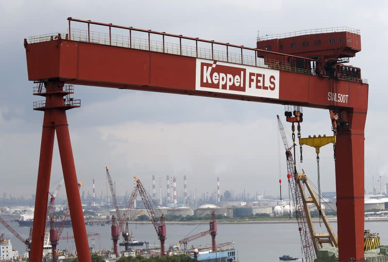 A view of a Keppel Corporation shipyard in western Singapore