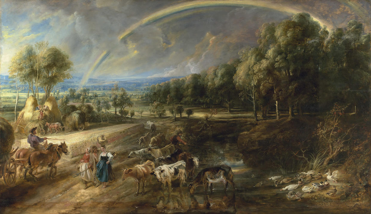 Peter Paul Rubens, The Rainbow Landscape probably dating from 1636 (Trustees of The Wallace Collection, London)