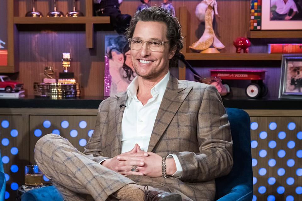 WATCH WHAT HAPPENS LIVE WITH ANDY COHEN -- Pictured: Matthew McConaughey -- (Photo by: Charles Sykes/Bravo/NBCU Photo Bank/NBCUniversal via Getty Images)