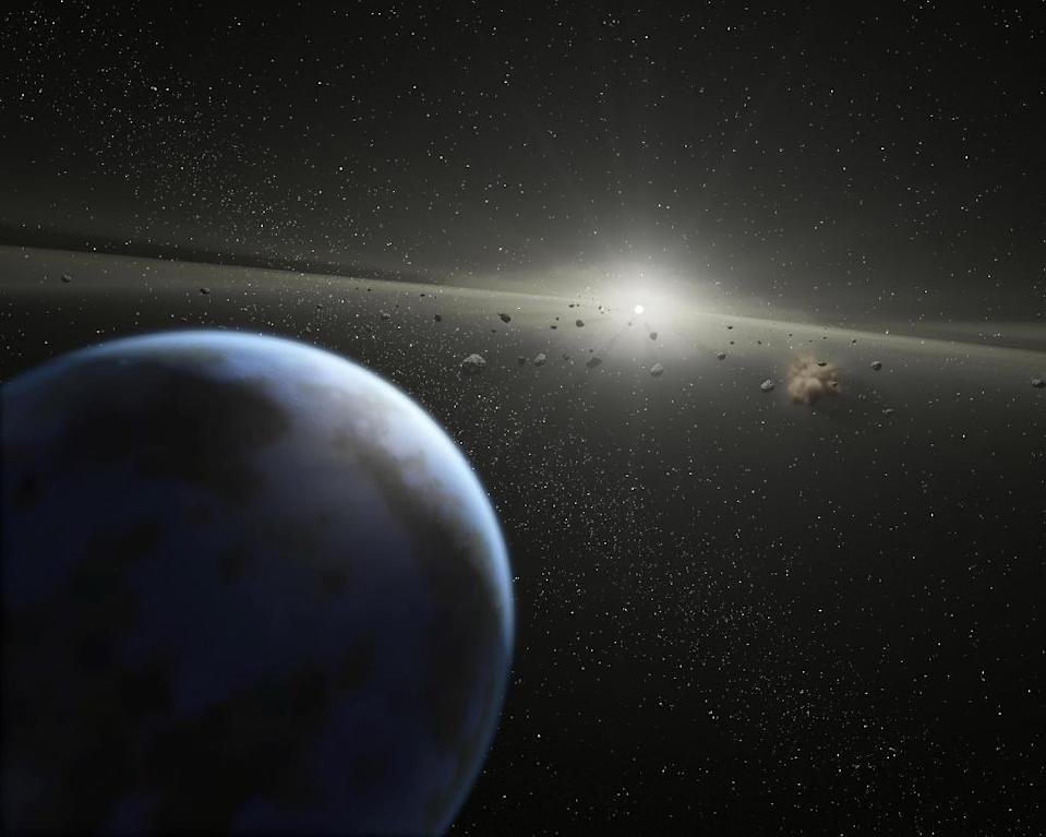 """Asteroids are chunks of rock from """"failed"""" planets, which never managed to coalesce into full-sized planets (AFP Photo/)"""