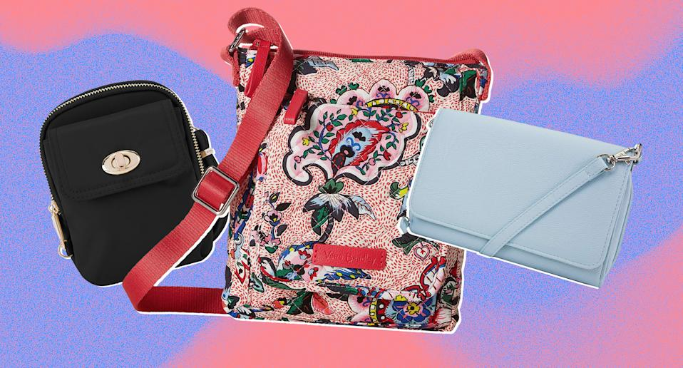 The best travel and anti-theft crossbody bags with RFID protection. (Photo: Zappos, Amazon, Art: Yahoo Lifestyle photo-illustration)