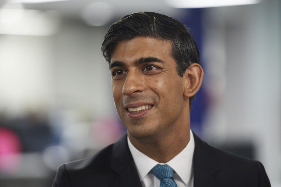 Britain's Chancellor of the Exchequer Rishi Sunak. Photo: Leon Neal/Pool via AP