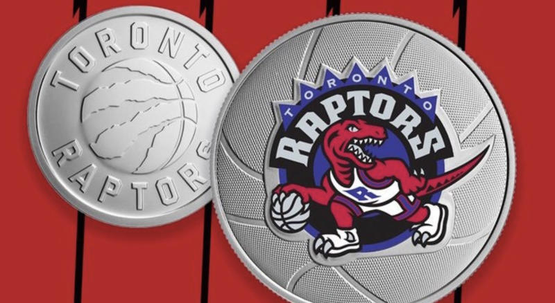 The Royal Canadian Mint commemorated the Toronto Raptors' 25th season in the NBA with two new coins. (Twitter//@CanadianMint)
