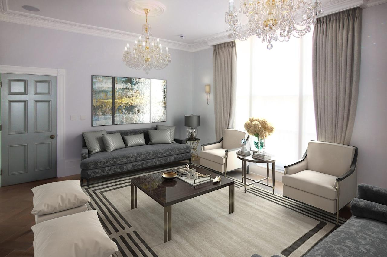 <p>Estate agent Rokstone says it is the first luxury home in the area which has been refurbished purely with the aim of being rented out rather than sold. It will cost the tenant £10,000 per week. </p>