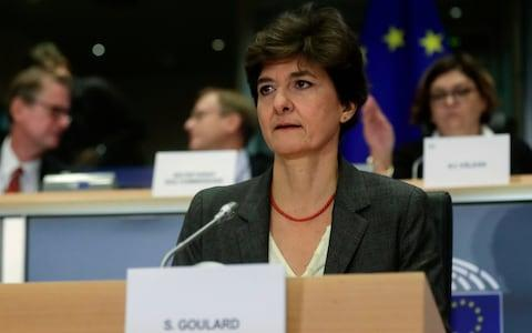 Sylvie Goulard, during her second hearing before the European Parliament in Brussels - Credit: Olivier Hoslet/Rex