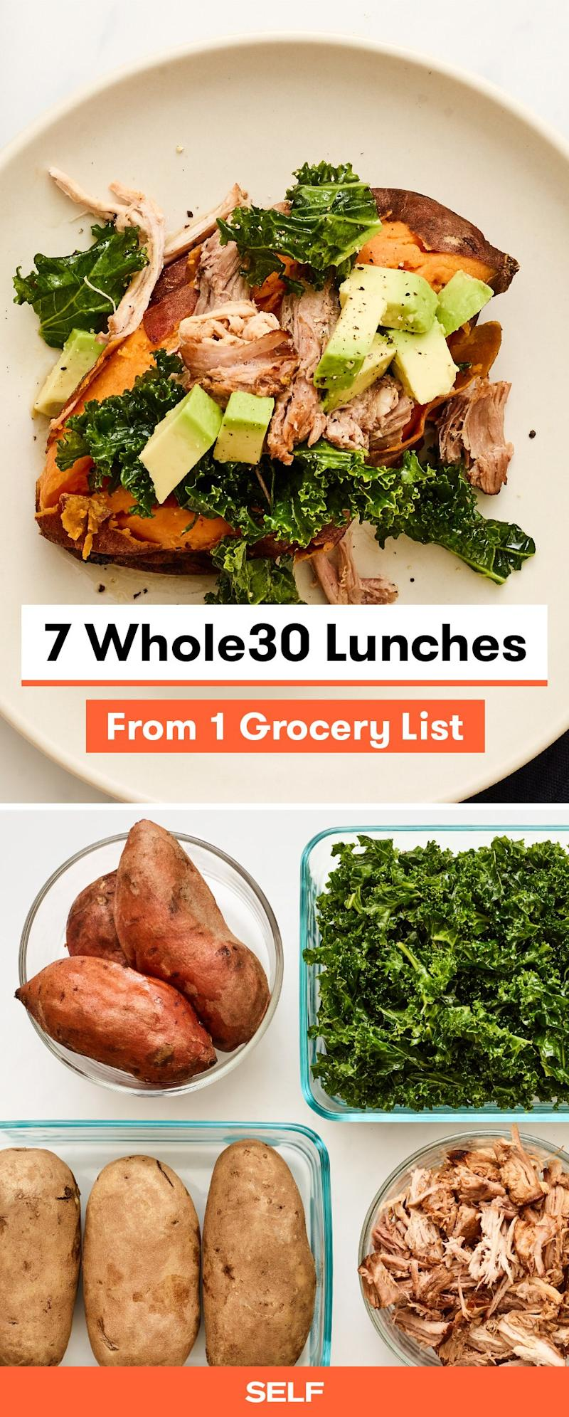 7 Whole30 Lunches From 1 Grocery List