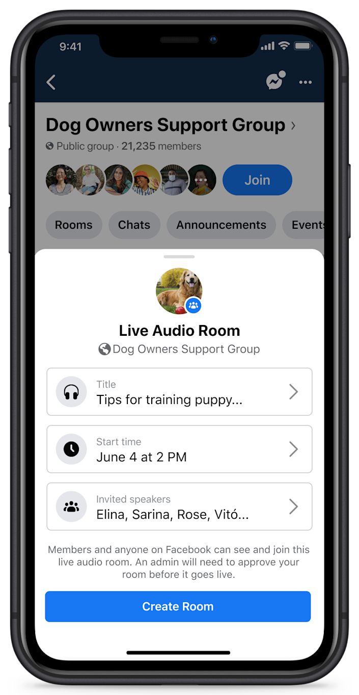 Users can listen and join live conversations with public figures, experts and others about topics they're interested in.
