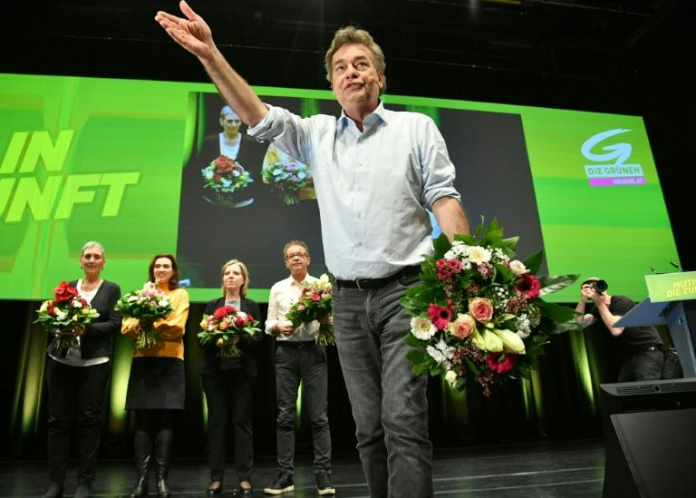Werner Kogler (C), leader of the Austrian Green party, will take the post of vice-chancellor
