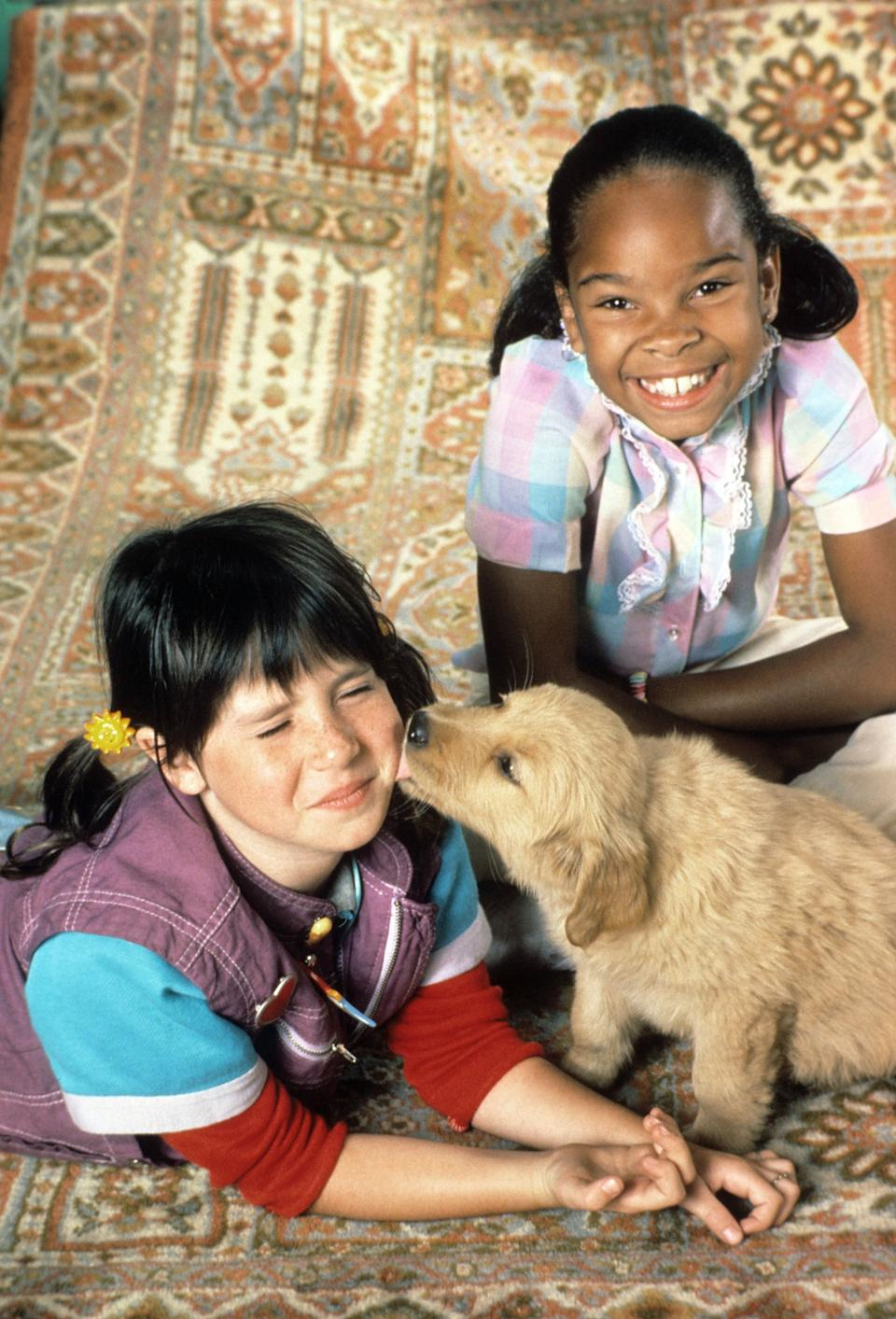 Soleil Moon Frye and Cherie Johnson played best friends for the first time in 1984. (Photo: NBC/Courtesy: Everett Collection)