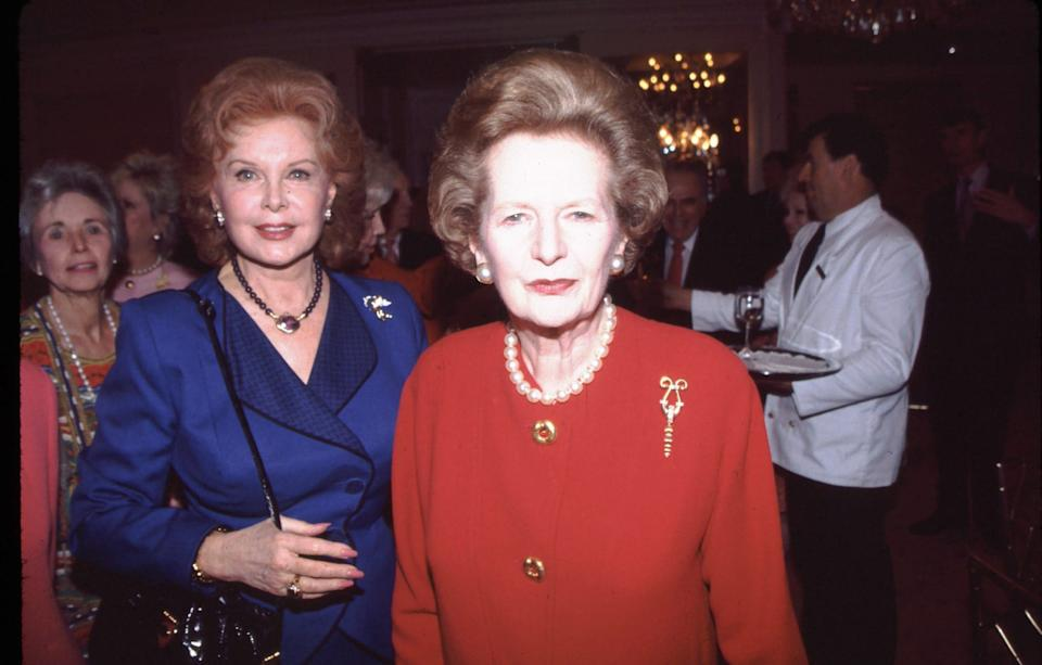 Rhonda Fleming and Margaret Thatcher: the actress worked with Ronald Reagan  - Bei/Shutterstock