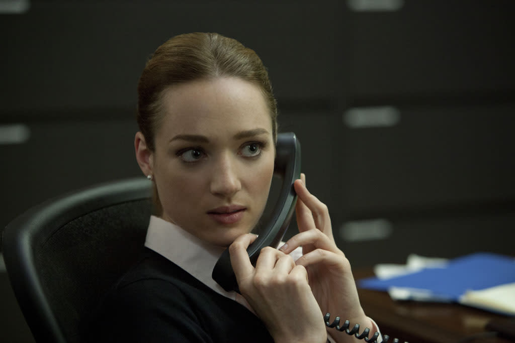 "Kristen Connolly in the ""House of Cards"" Season 1 episode, ""Chapter 1."""
