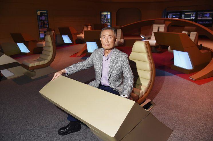 Actor George Takei attends the Star Trek: The Star Fleet Academy Experience Preview at Intrepid Sea-Air-Space Museum on June 30, 2016 in New York City. (PhotO: Michael Loccisano/Getty Images)