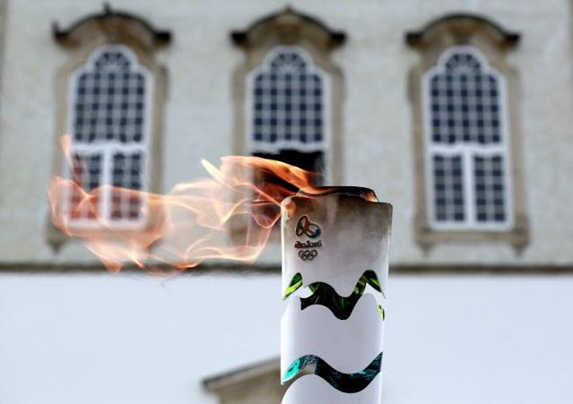The Olympic flame was nearly extinguished Wednesday. (Getty)