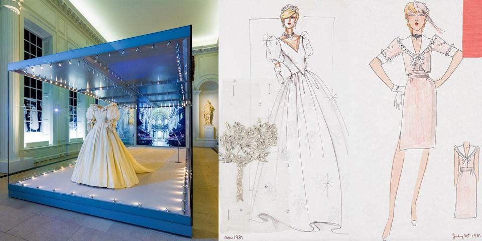 Photo credit: Bellville Sassoon sketch for Diana, Princess of Wales © Historic Royal Palaces - Bellville Sassoon