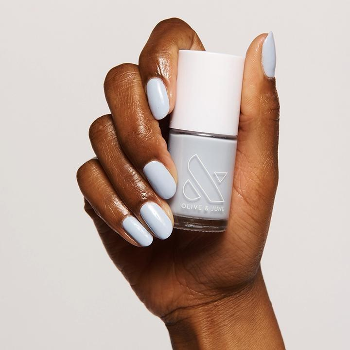 <p>A cool-toned, light nail polish shade best matches the personable and friendly Aquarius. The <span>Olive &amp; June BP Nail Polish</span> ($8) is an icy white-blue color that will bring you some inner peace. </p>