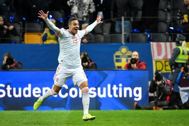 Rodrigo ensures a Euro 2020 spot for Spain with his late equaliser against Sweden (AFP Photo/Anders WIKLUND)