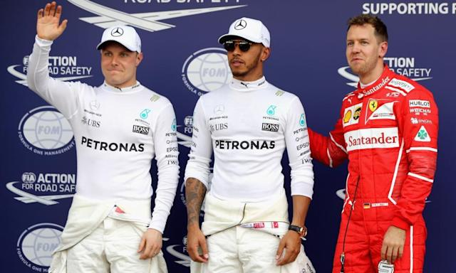 "<span class=""element-image__caption"">The front three after qualifying for the Australian GP.</span> <span class=""element-image__credit"">Photograph: Mark Thompson/Getty Images</span>"