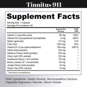 Tinnitus 911 organic supplements are created with natural ingredients.