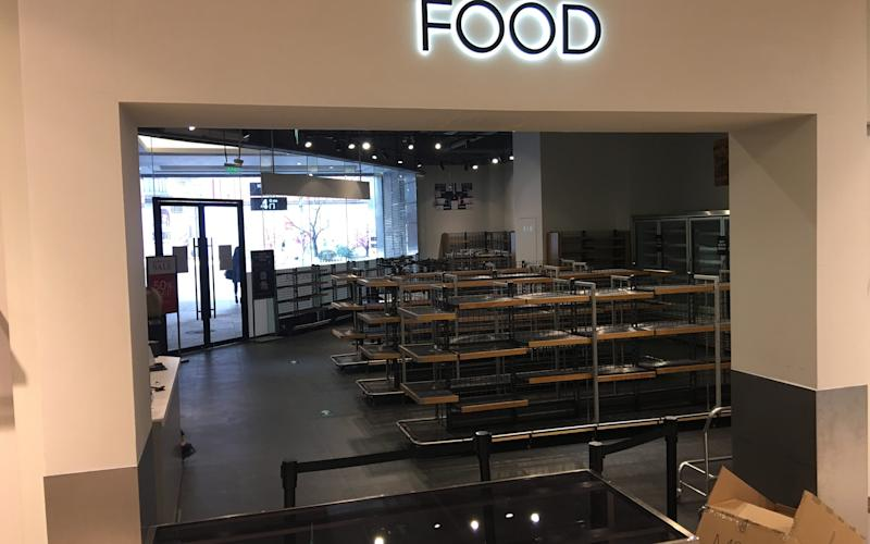 Marks and Spencer Food Hall in Beijing, after the sales - Credit: Neil Connor/Telegraph