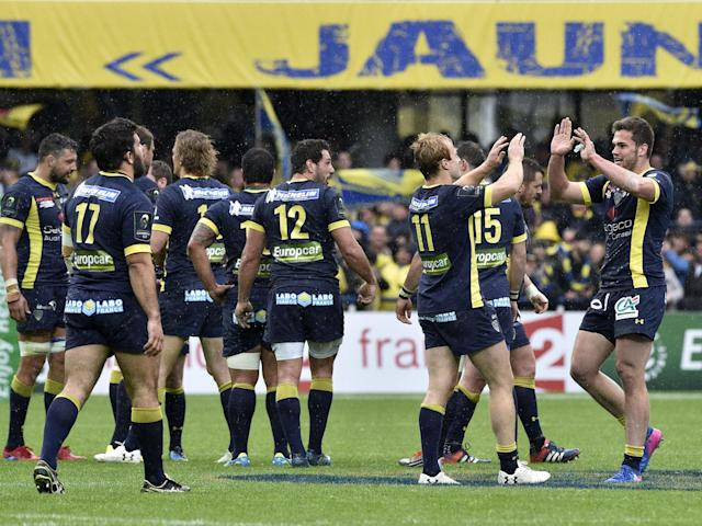 Clermont's players celebrate after the final whistle: Getty
