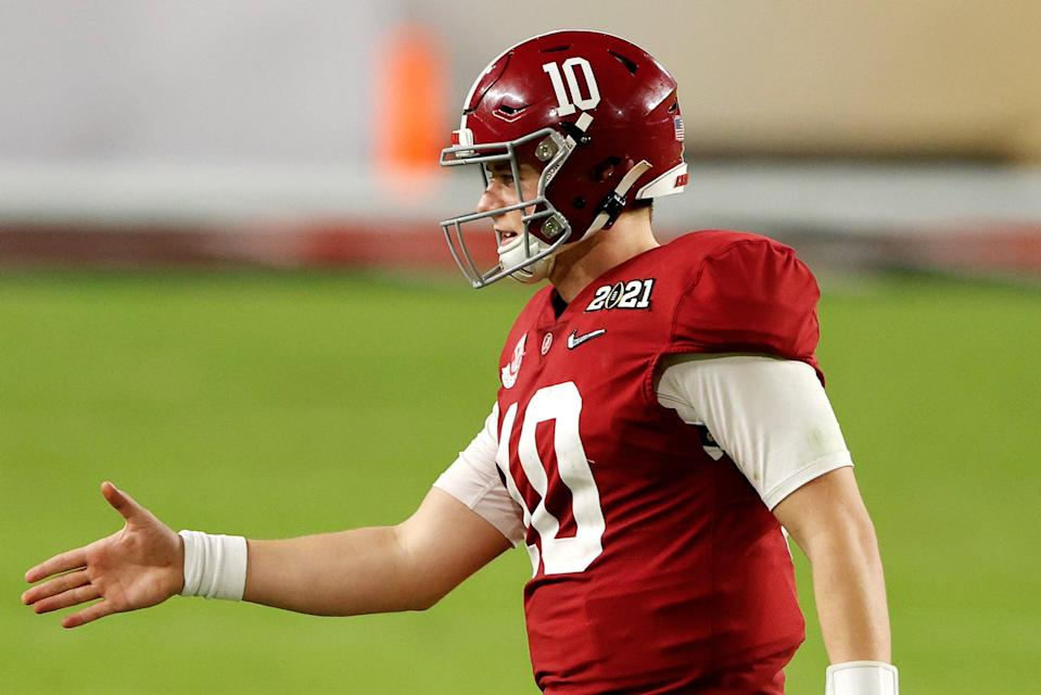 Will the San Francisco 49ers select Alabama quarterback Mac Jones at No3?Getty Images