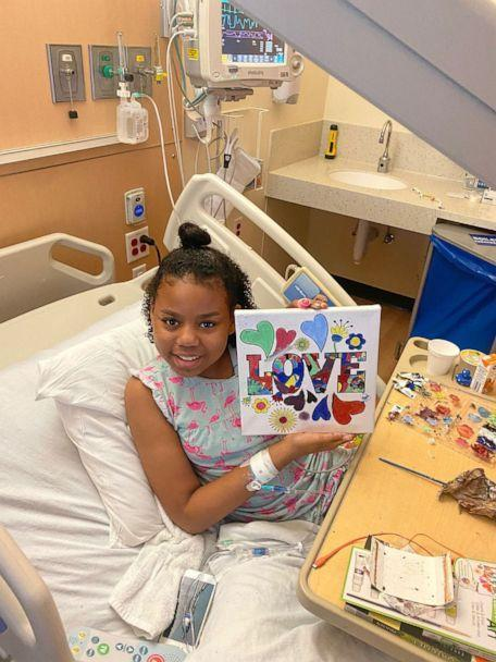 PHOTO: Kylie Van Sciver, 9, is photographed in the hospital while undergoing treatment for sickle cell disease. (Courtesy Destiny Van Sciver)