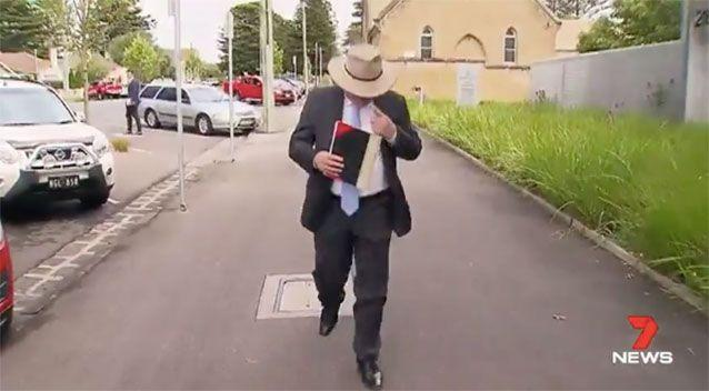 Bryce Peterson leaves court. Source: 7News