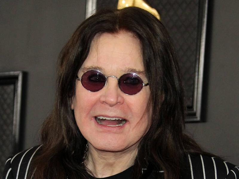 Ozzy Osbourne keeps fit with wall mirror fitness system