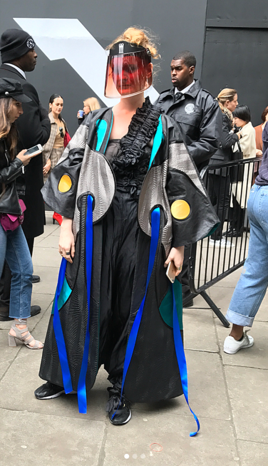 <p>Arguably the most futuristic look we've seen this Fashion Week. <em>[Photo:Marianne_violet/Instagram]</em> </p>