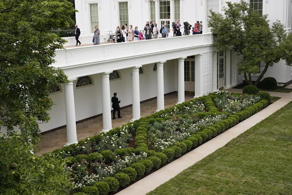 'Insipid classical collage' … the restored Rose Garden, overseen by First Lady Melania Trump.