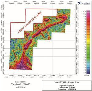 Eva High Resolution Airborne Magnetic Survey with Additional Claims Highlighted