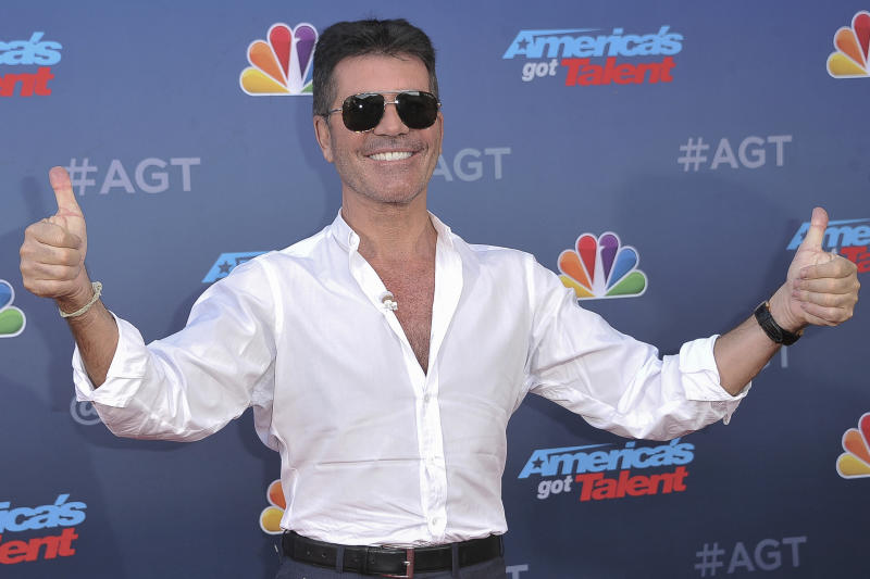 "Simon Cowell attends ""America's Got Talent"" season 15 red carpet at the Pasadena Civic Auditorium on Wednesday, March 4, 2020, in Pasadena, Calif. (Photo by Richard Shotwell/Invision/AP)"
