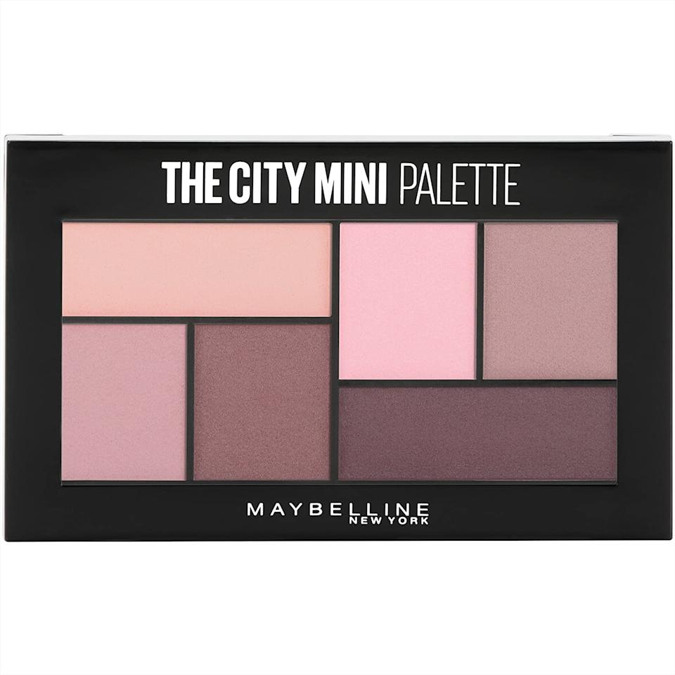 Maybelline Mini Eyeshadow Palette Makeup contains six neutral pink eyeshadow shades.
