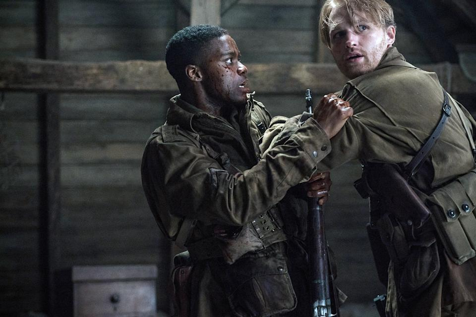Jovan Adepo and Wyatt Russell in 'Overlord' (Photo: Peter Mountain / Paramount Pictures /Courtesy Everett Collection)