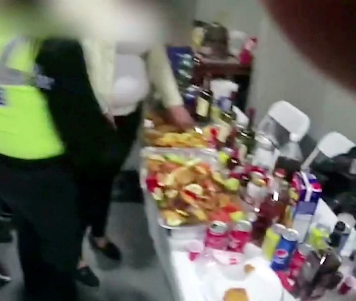 Police raided an empty shop and found a four-piece band about to play for guests at an illegal birthday party (swns)