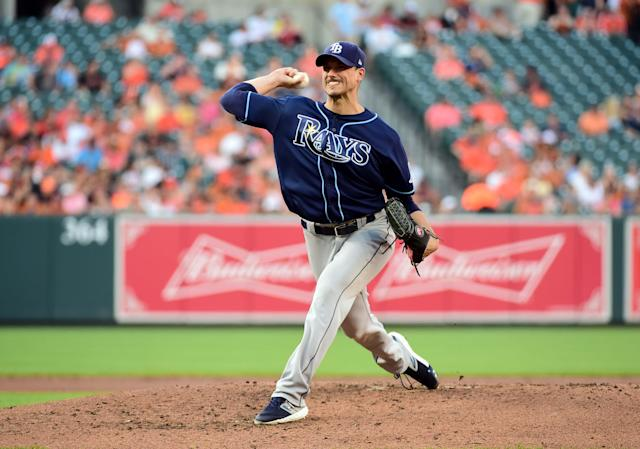 """<a class=""""link rapid-noclick-resp"""" href=""""/mlb/players/8270/"""" data-ylk=""""slk:Charlie Morton"""">Charlie Morton</a> is well represented in Yahoo fantasy leagues, but what about the rest of the <a class=""""link rapid-noclick-resp"""" href=""""/mlb/teams/tampa-bay/"""" data-ylk=""""slk:Rays"""">Rays</a> pitchers? Mandatory Credit: Evan Habeeb-USA TODAY Sports"""