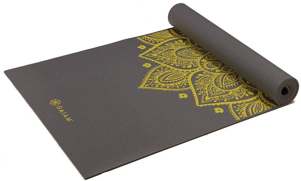 <p>Before and during my period, I prioritize gentle exercise like yoga, stretching, and Pilates. I basically live on my <span>Gaiam Yoga Mat</span> ($20). It serves as my station for meditation, too. </p>