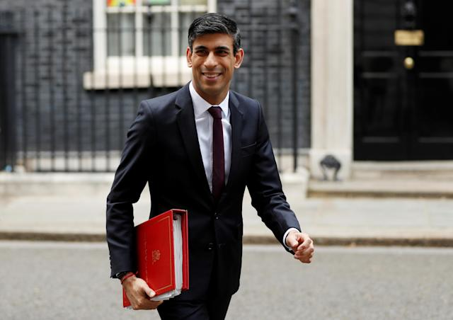 Chancellor of the exchequer Rishi Sunak. (John Sibley/Reuters)