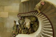 National Guard members gather at the U.S. Capitol in Washington
